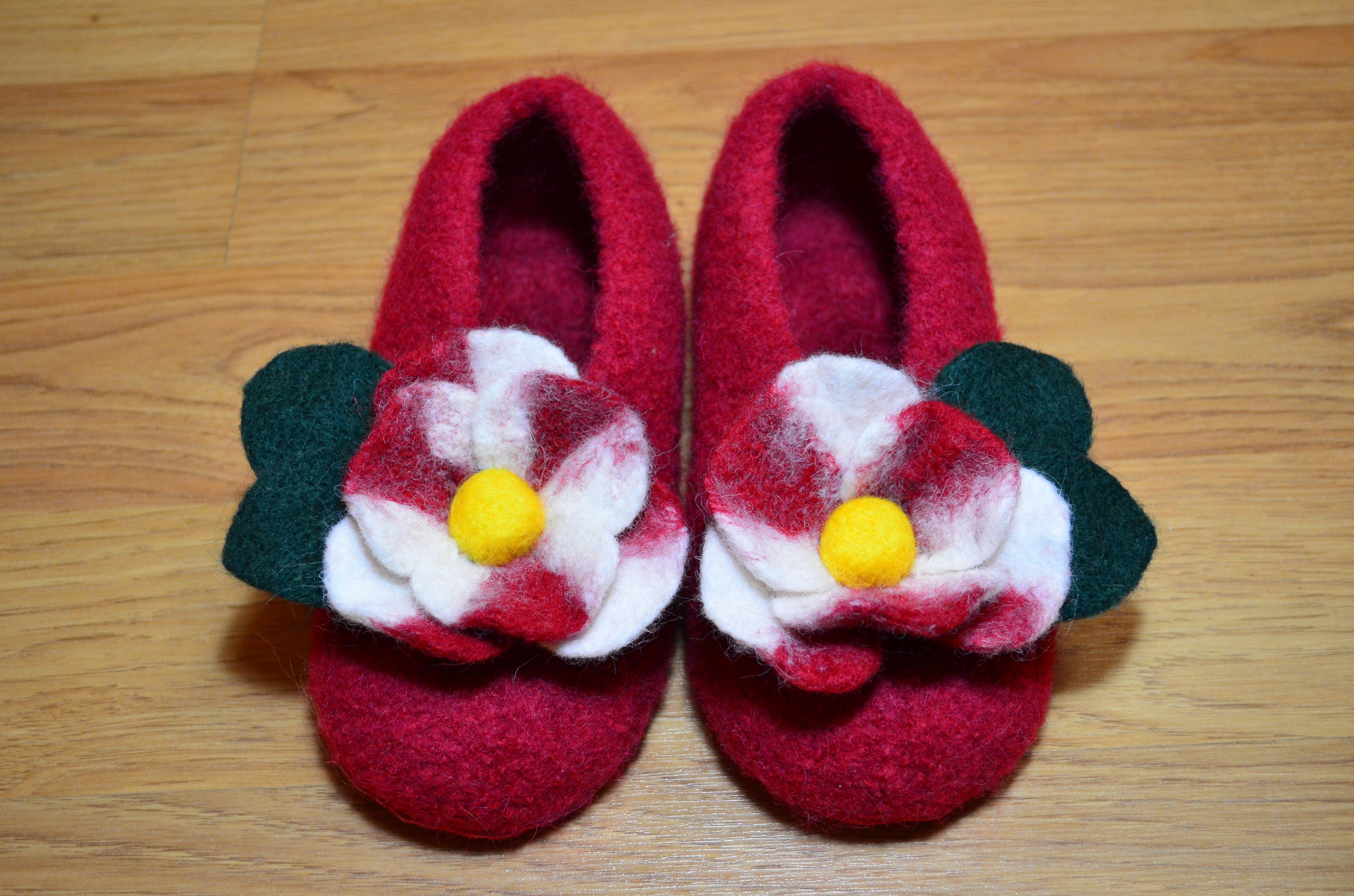 валяние детские валенки обувь пинетки
