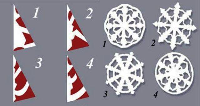 Снежинки из бумаги своими руками 4