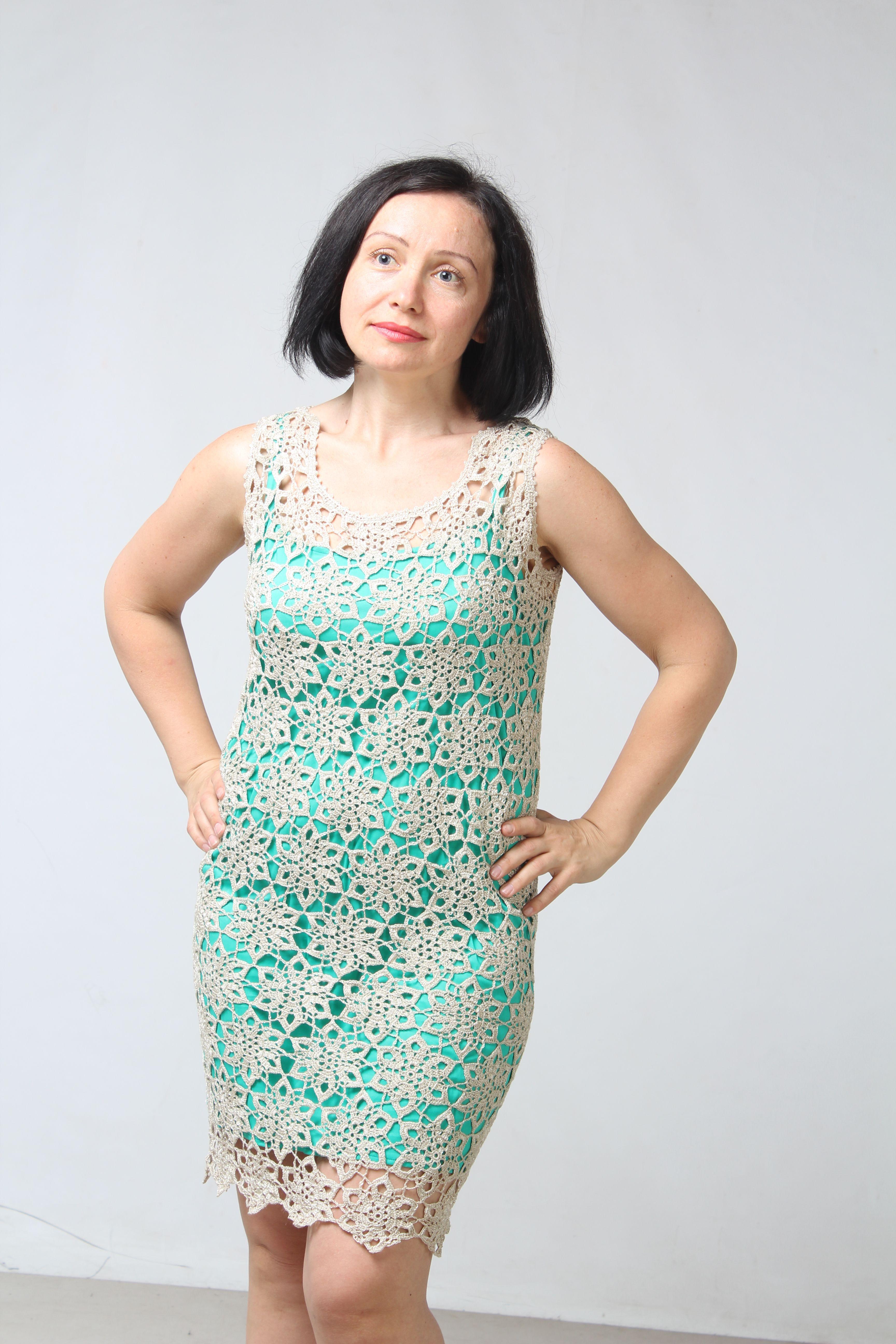ручная работаодежда платье