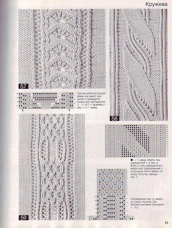 Объемные узоры спицами 12