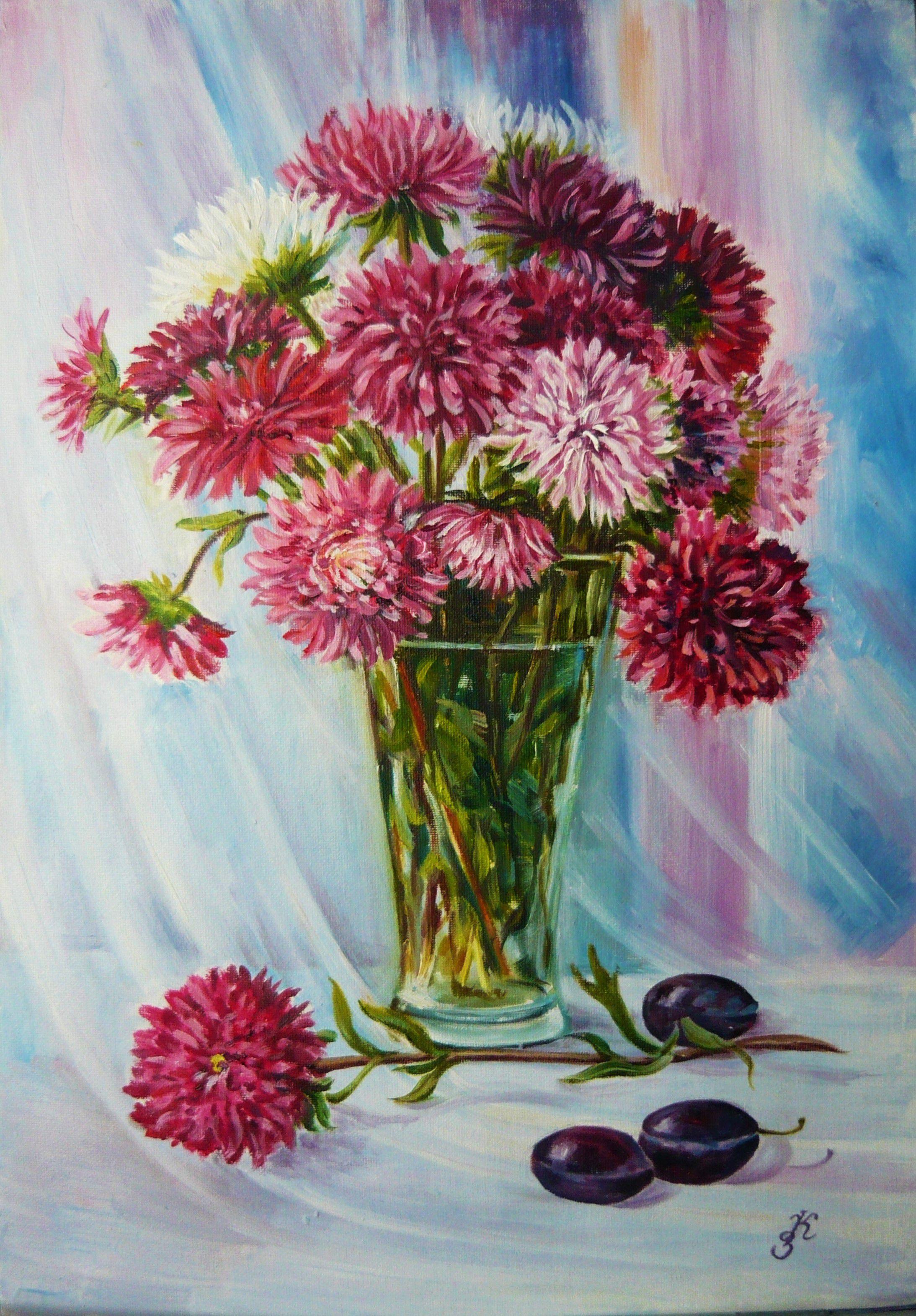 холст масло живопись картины цветы натюрморт