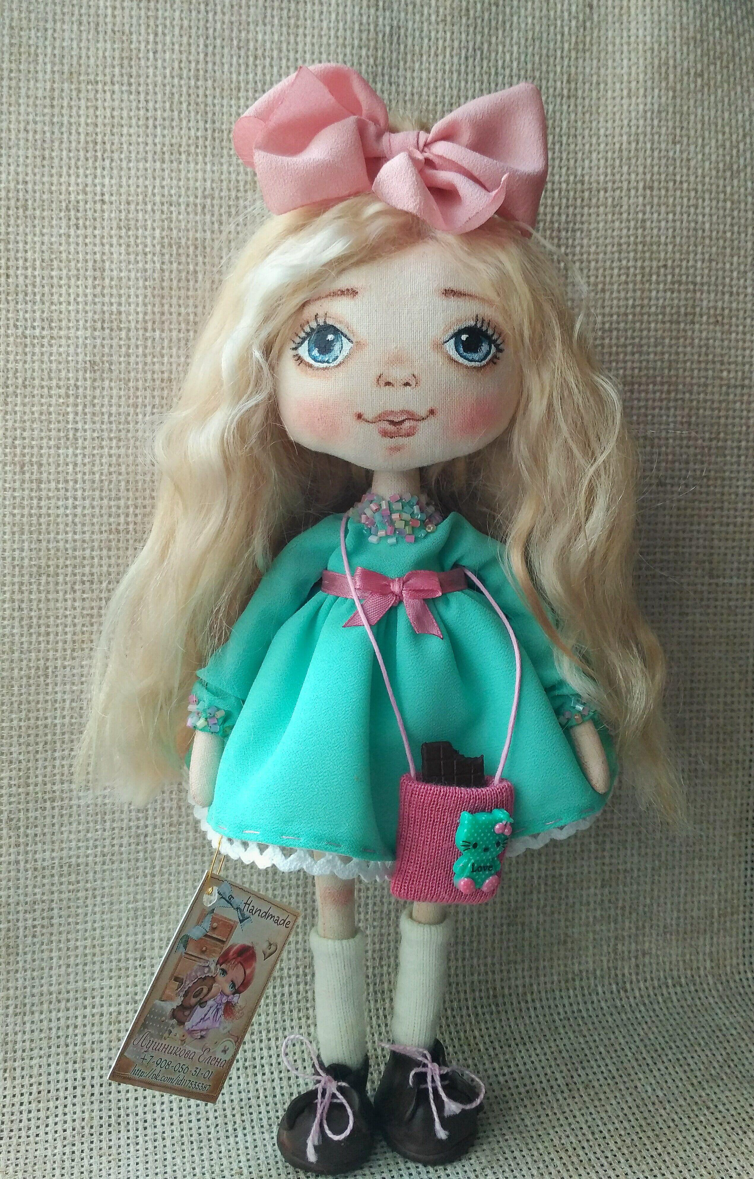 интерьерная кукла работа ручная подарки текстильная