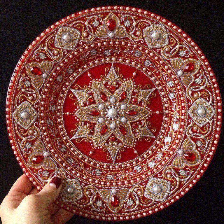 посуда роспись живопись керамика искусство точечная