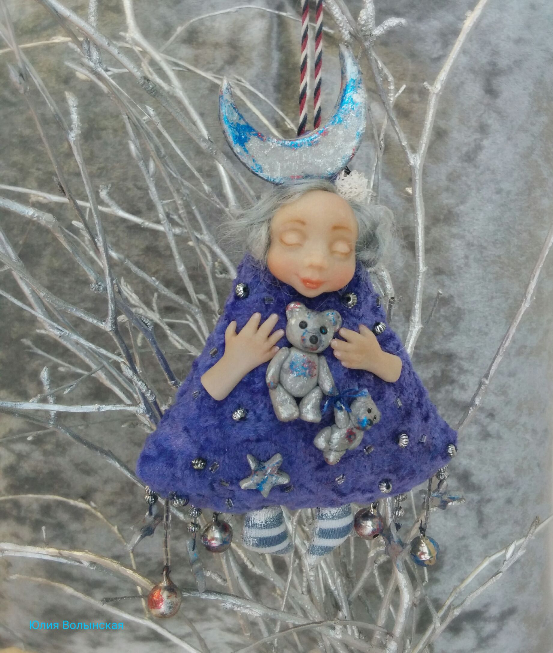 кукланазаказ теддидол звездопад авторскаяработа куклыюлииволынской оригинальныйподарок кукла куклы куколка тедди роскошь ручнаяработа эксклюзив подарок