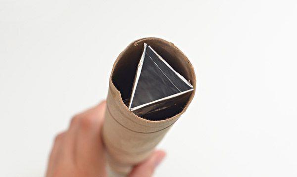 просто поделка калейдоскоп игрушка дети фольга картон бумага