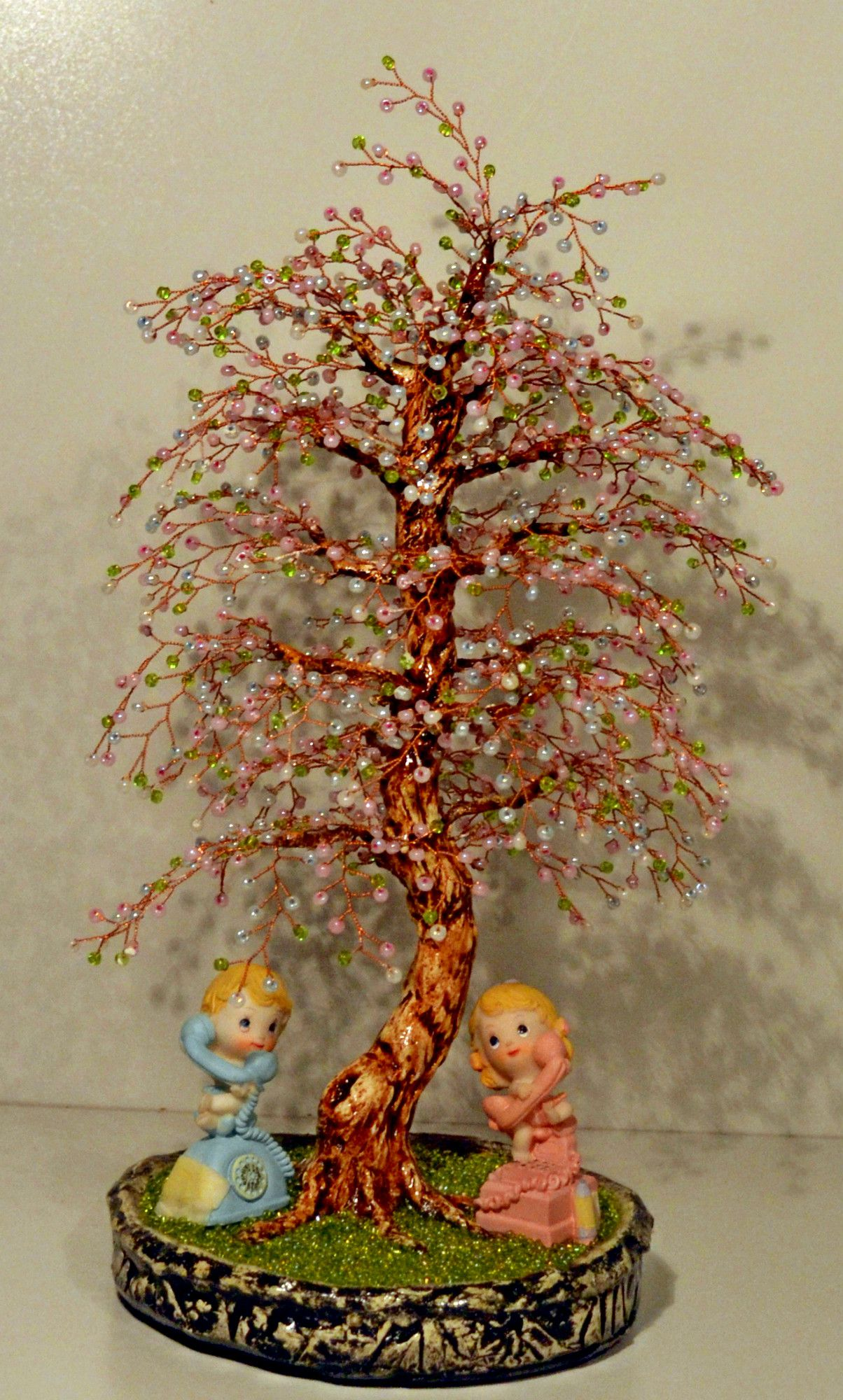 весна сувенир дерево 8марта бисер малыши подарок