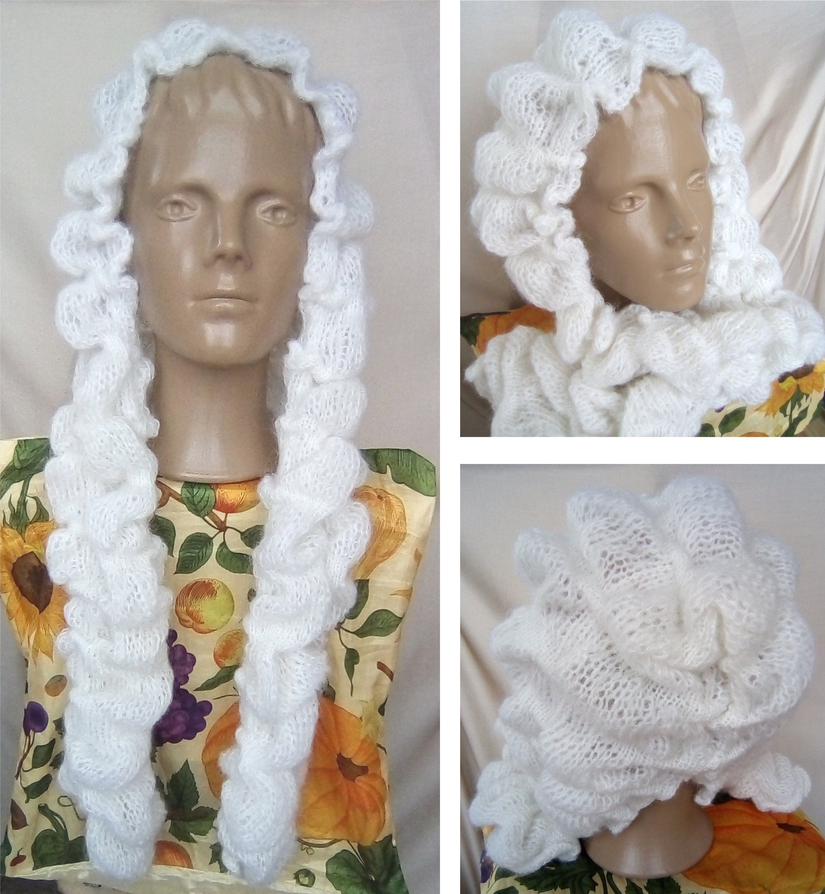 кидмохер модный зимняя knitted cup cap wig hood шапочка для убор головной парик капюшон шапка теплая снуд дизайнерская аксессуар женщин вязаный