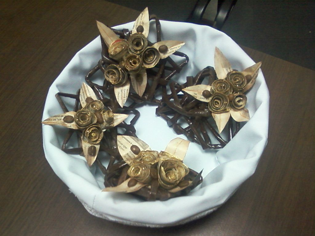 плетение рождество звезды корзина декор подарки колокольчики