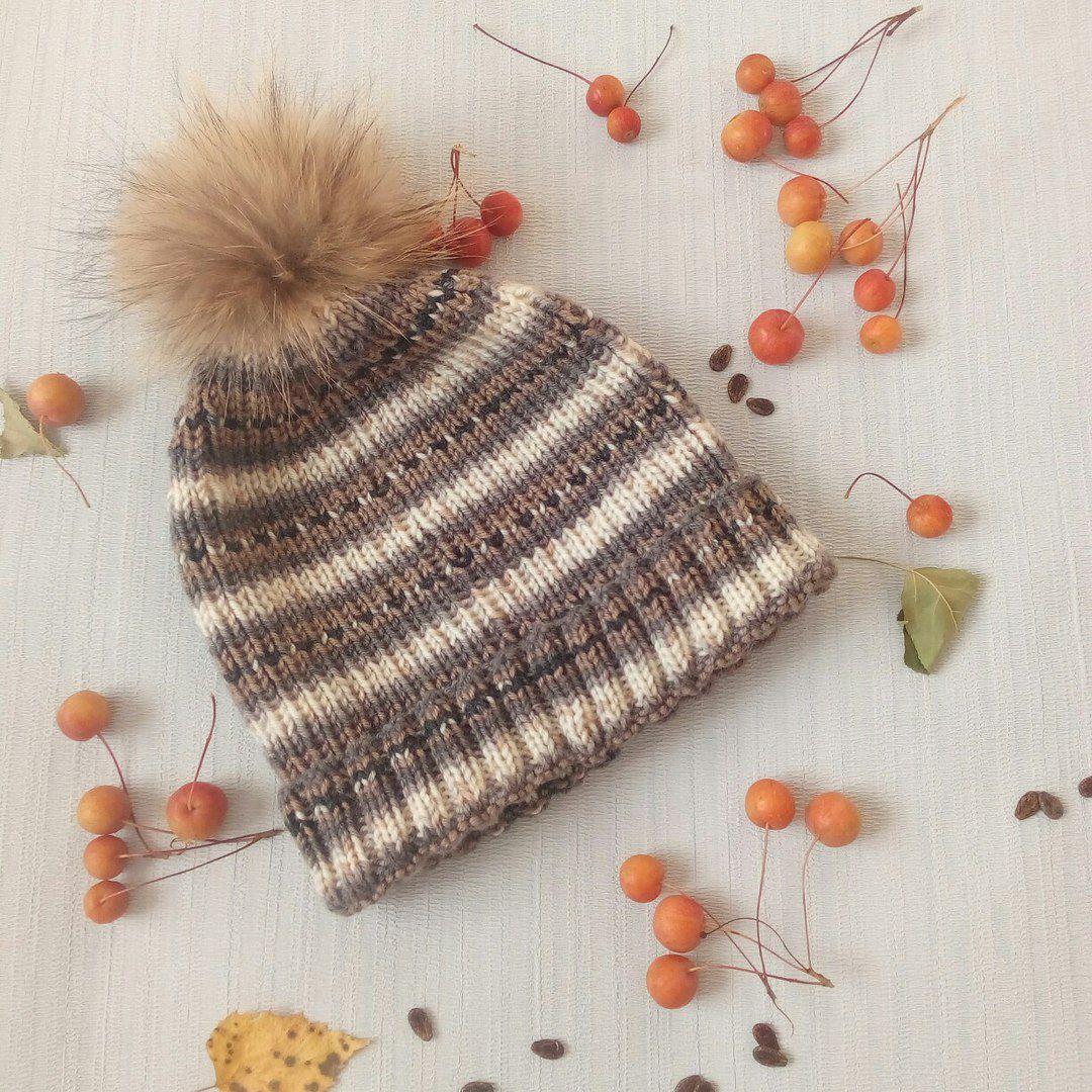 спицами вязание шапка осенняяшапка шапкаспицами