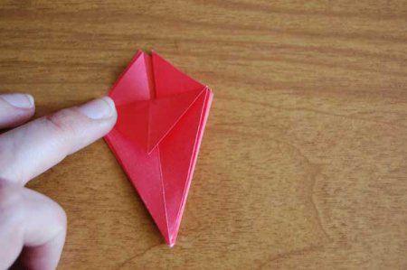 Оригами из бумаги цветы 36