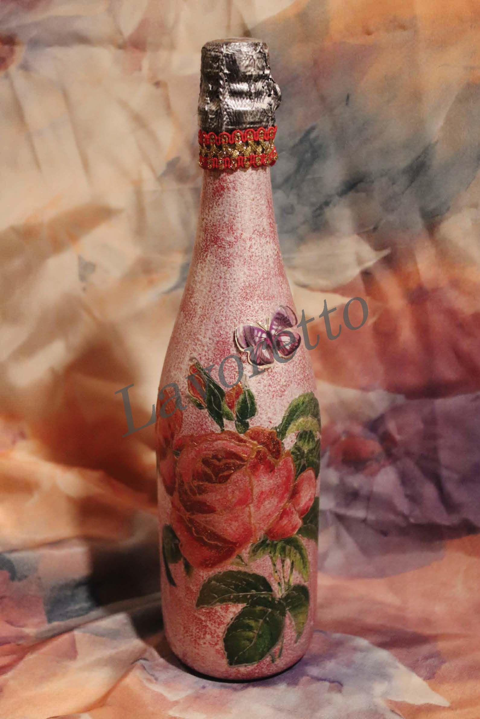 подарок деньрождения розы юбилей бутылки 8марта