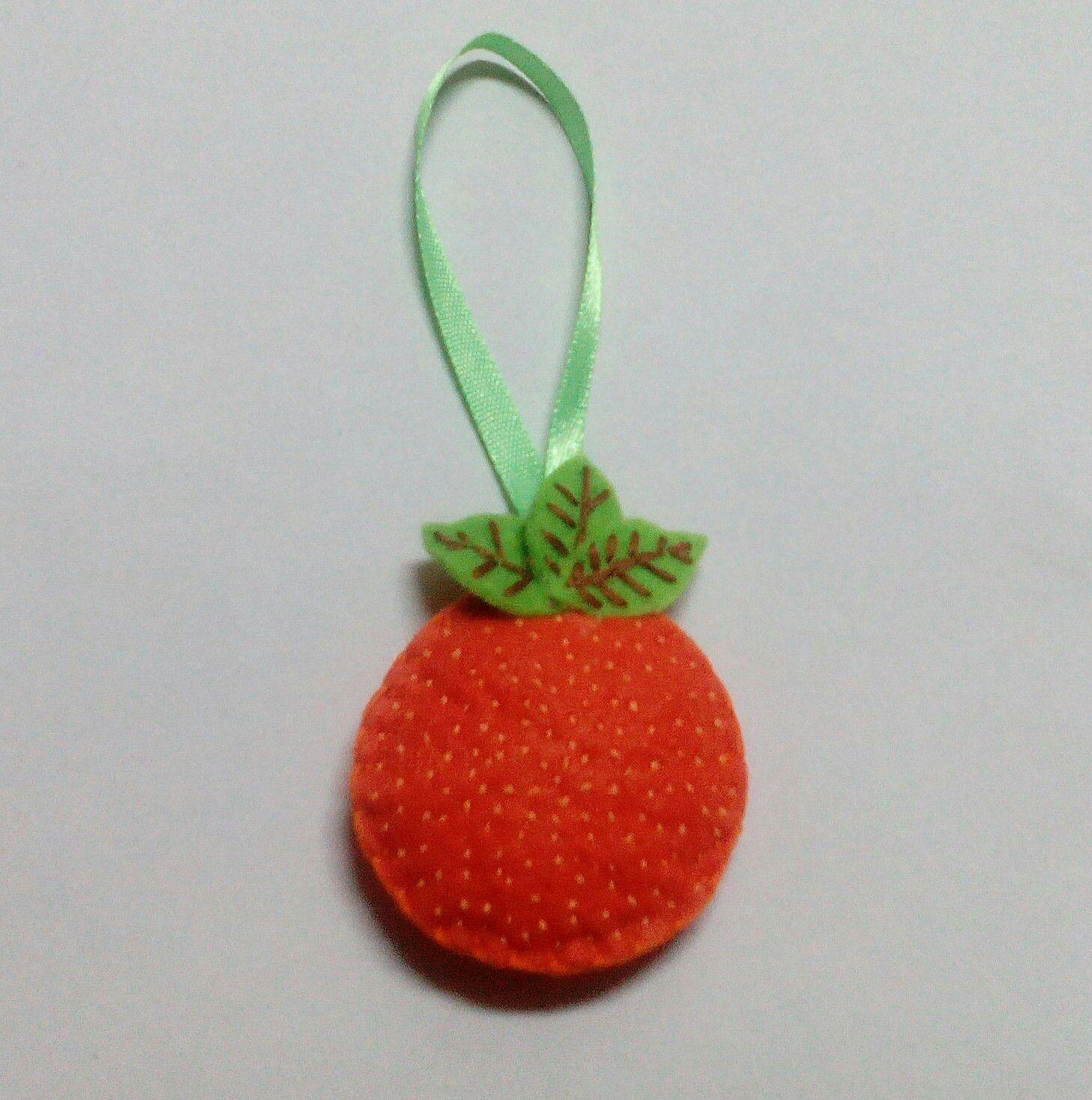 made подарки апельсин hand фетр новый год