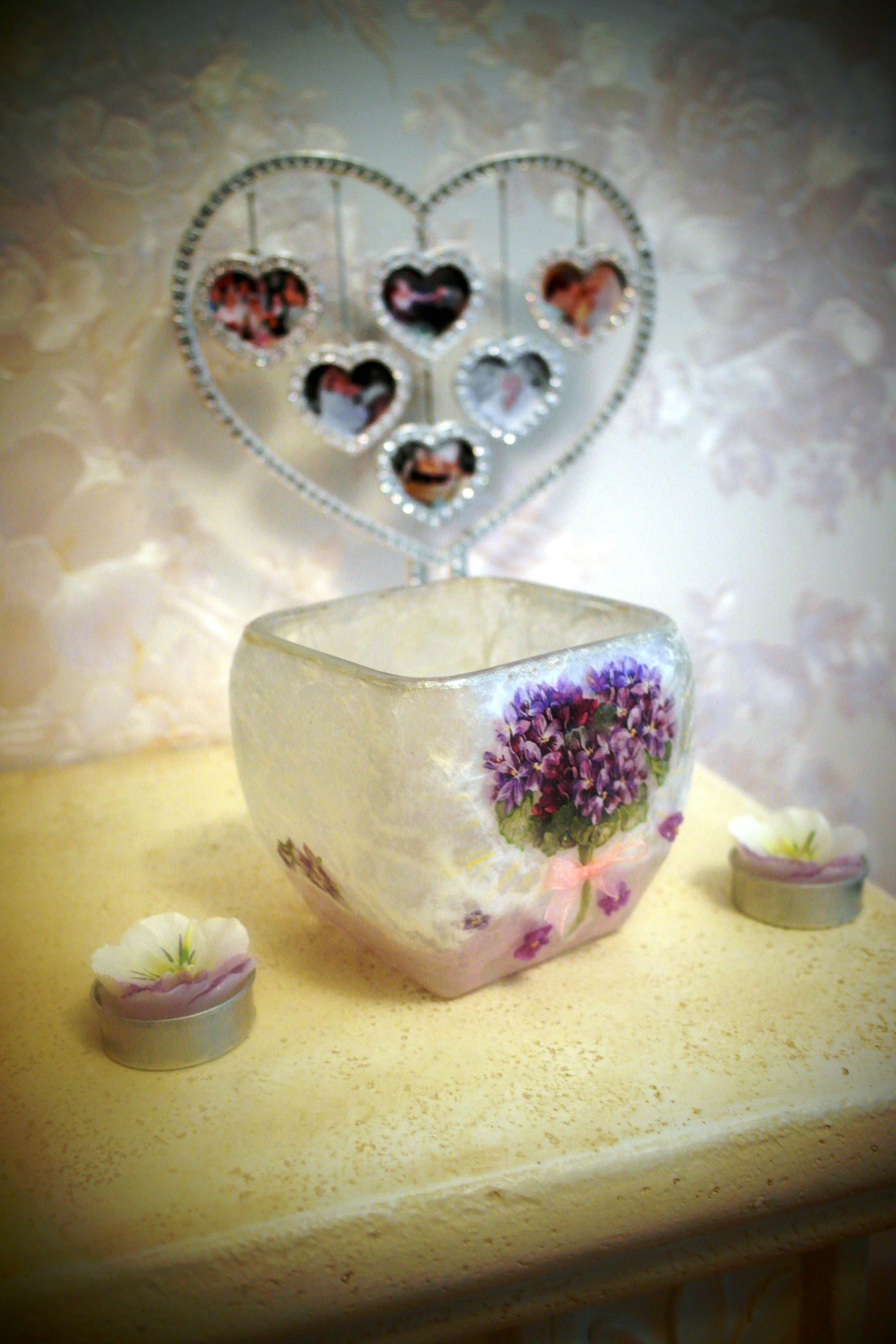 творчество полимернаяглина handmade хендмейд декупаж ваза подарок уникальныйподарок глина