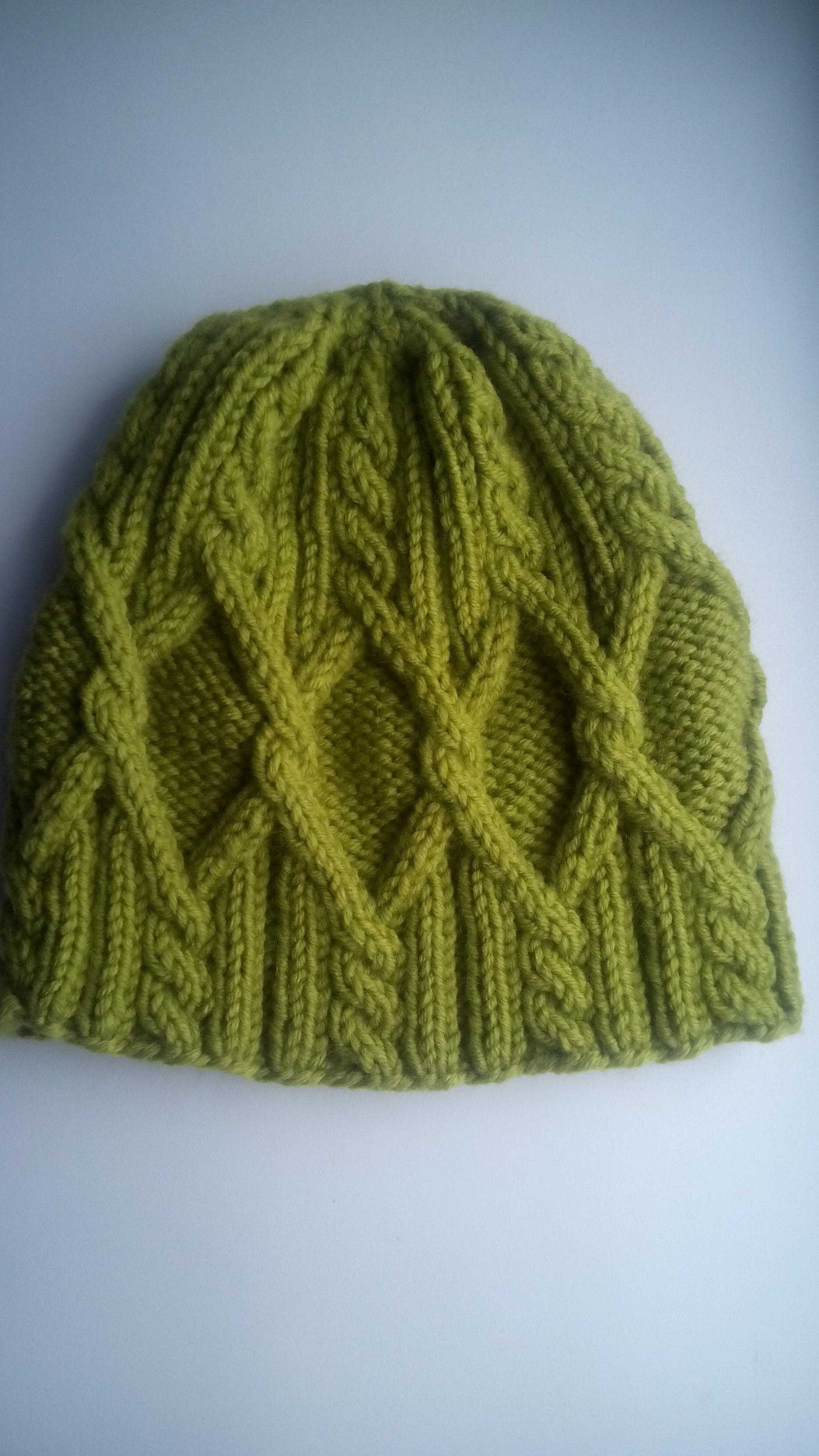 вязание шапка косами спицами