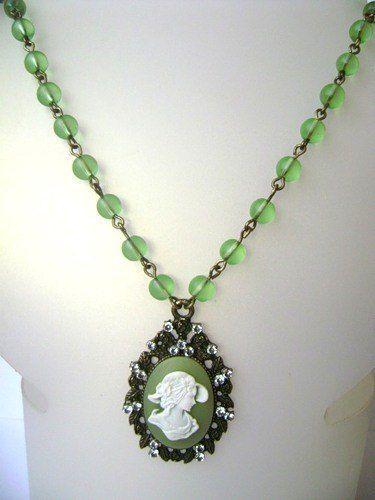 камеей женщины подарок камеи кулон зелёный для кулоны купить камея девушки бижутерия винтаж