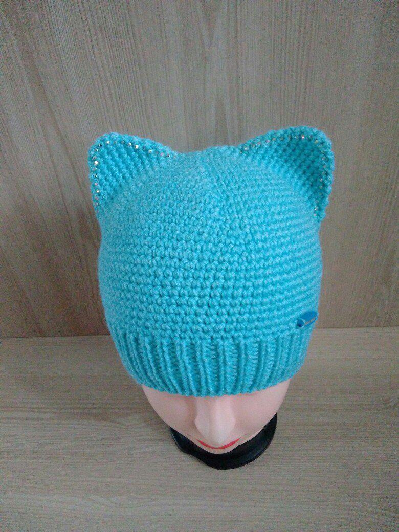 handmade madenika вязание шапочка кошка назаказ спицами крючком шапкасушками стиль ручнаяработа длядетей котошапка мода