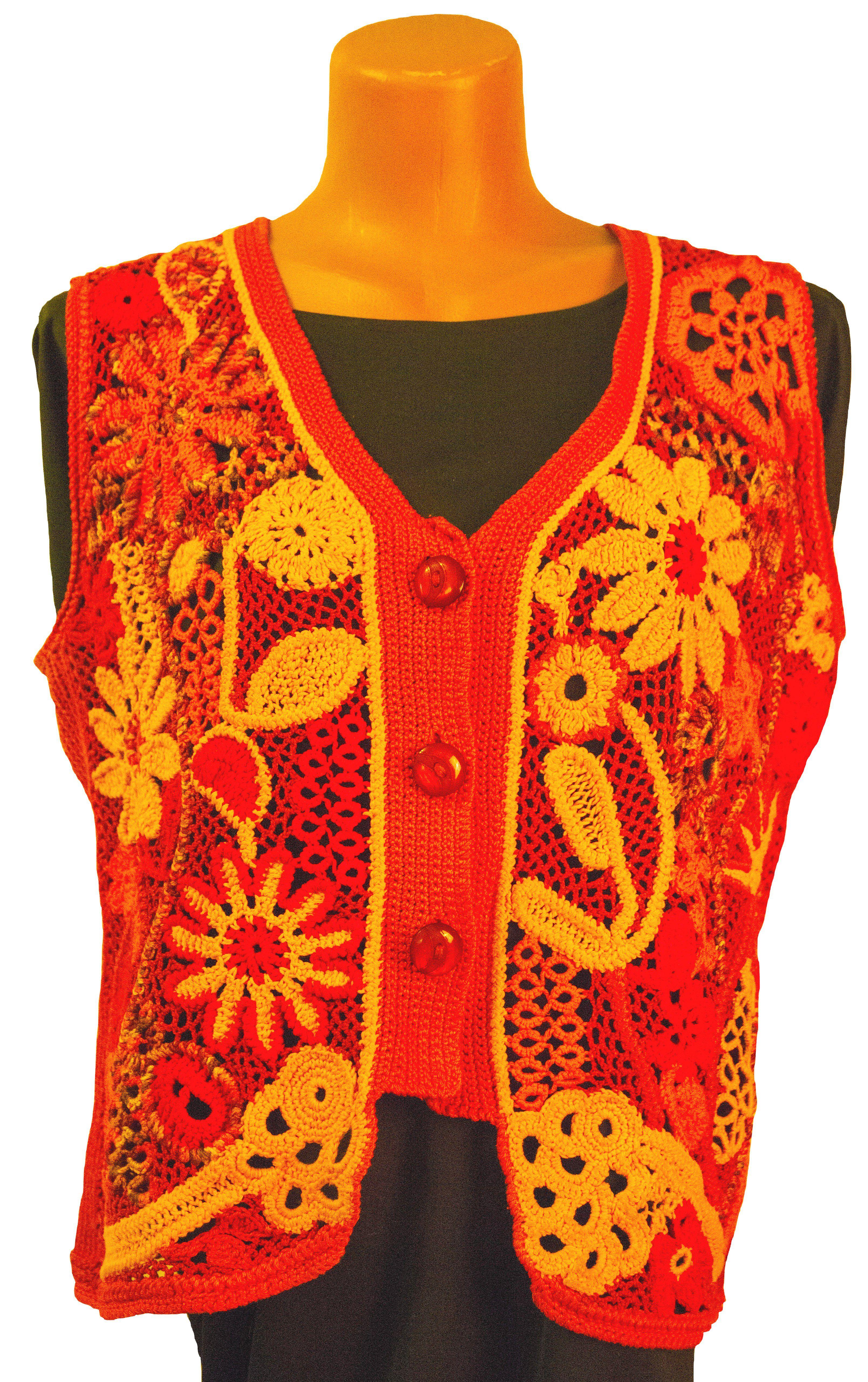 жилет-вязаный жилет-женский наборное-кружево авторская-ручная-работа авторский-дизайн цветочный фриволите