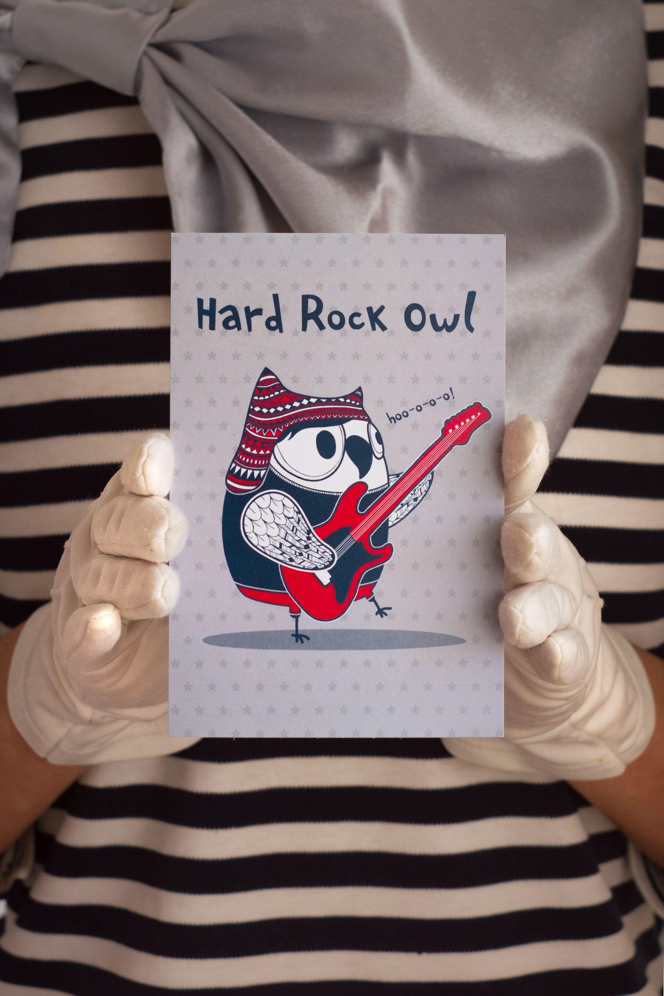 знаквнимания rock сюрприз hard хардрок открытка сова owl подарок