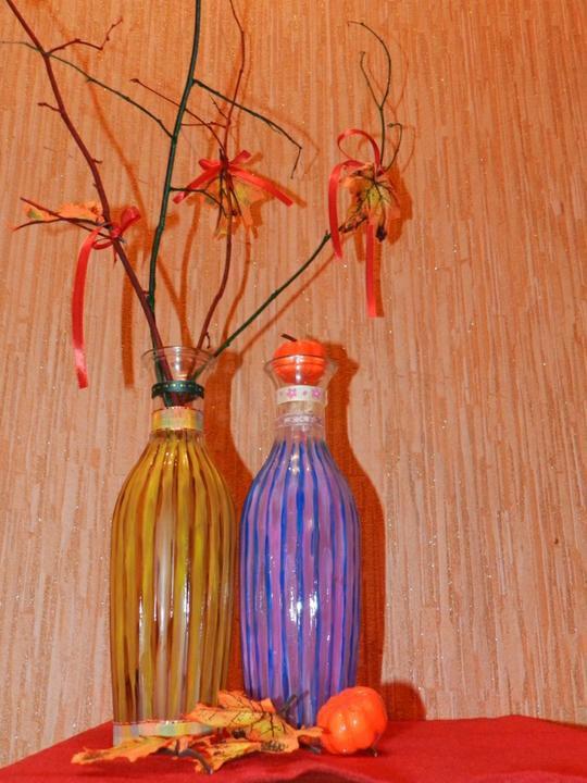 листья мастеркласс букет ваза декор осень уют