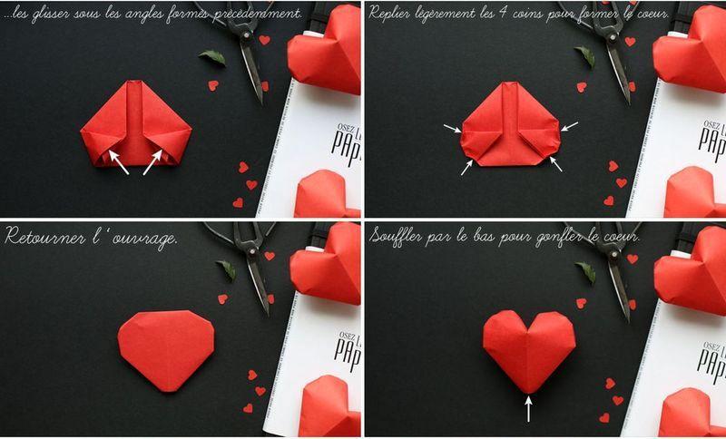 Сердечки из бумаги 11