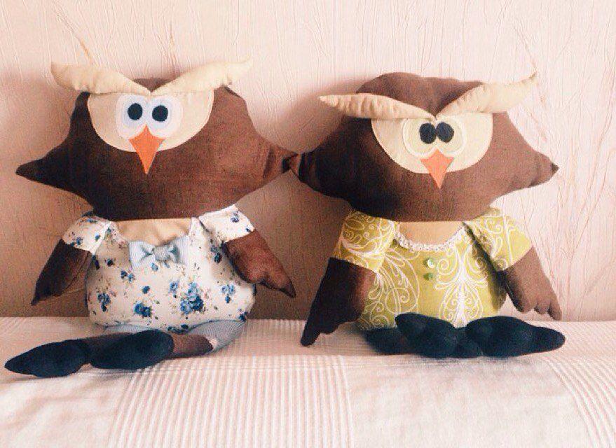 cовушки совы игрушка подушка ручнаяработа назаказ