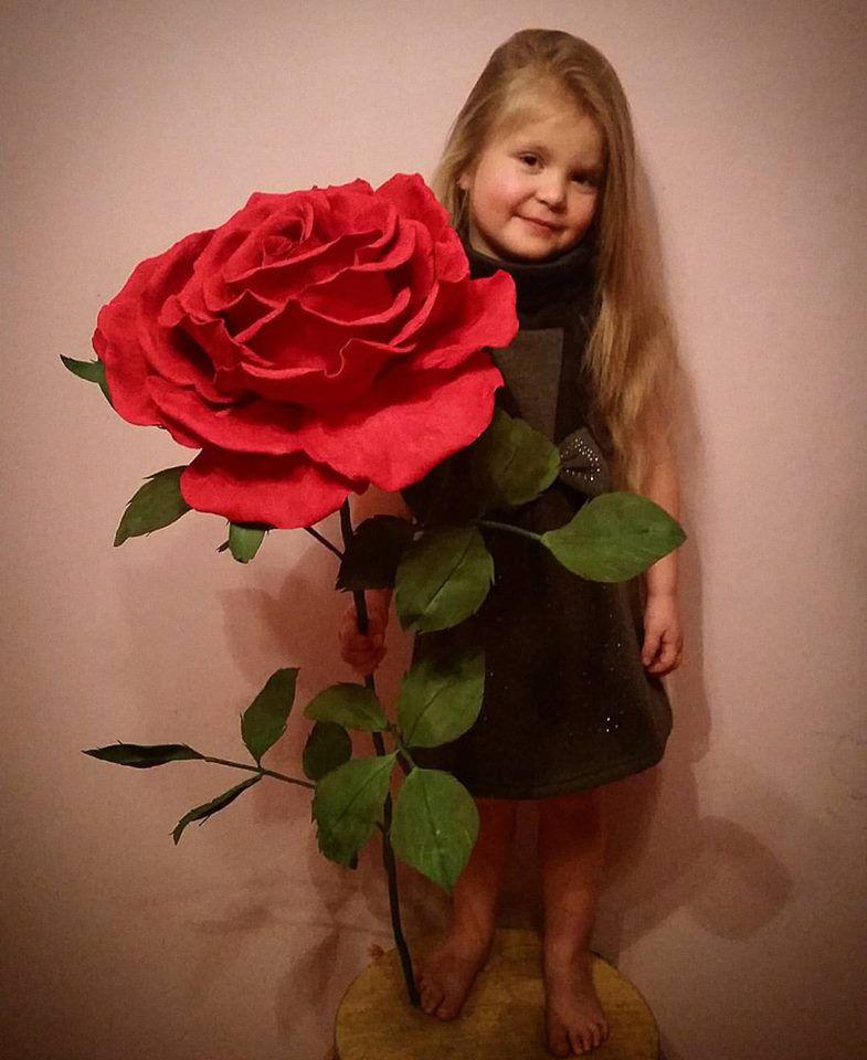 подарок работа ручная огромная интерьер хэндмэйд роза цветы