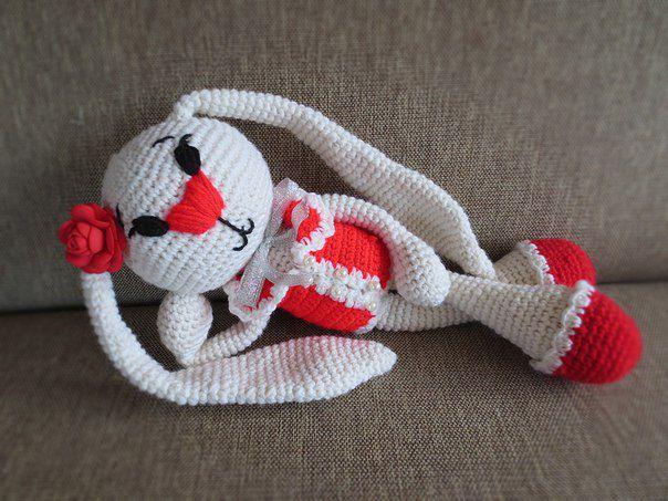 вязание зайка подарок дети