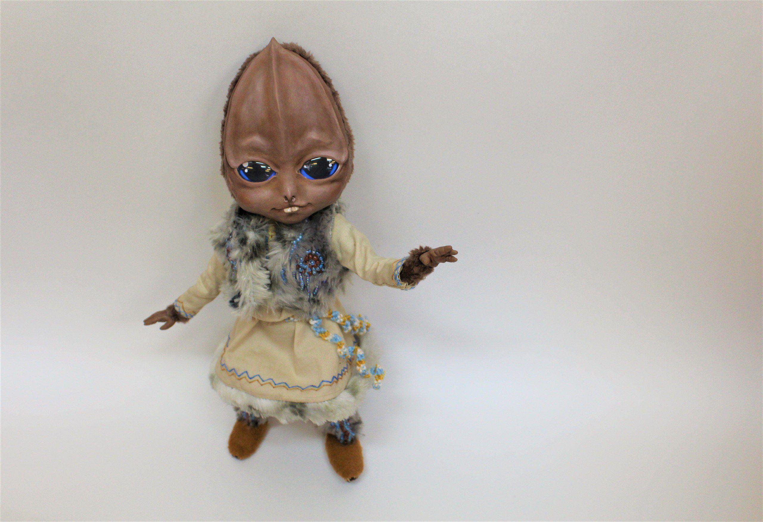 кукла работа ручная handmade инопланетянин