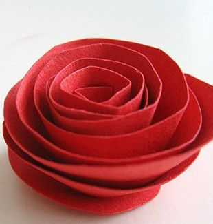 Розы из бумаги своими руками 4