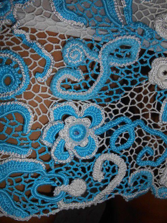 кружево крючок вязанное ирландское платье продам