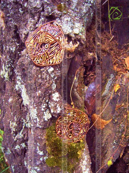 кулон проволока подвеска украшение летнее оригинальная медная купрум бисероплетение медный лето бисер оригинальный подарок