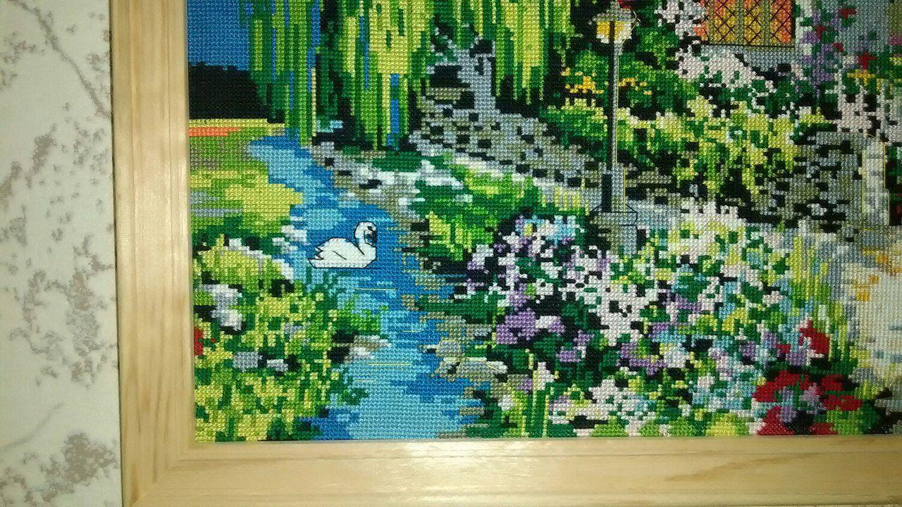 дом мулине казань яркиеоттенки речка вналичии вбагете картина подарок багет