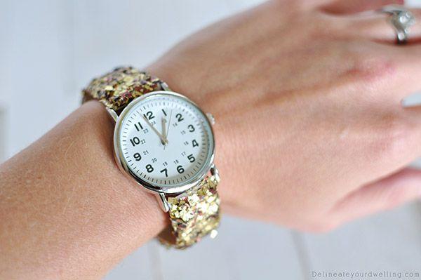 руками браслет для блестки ремешок часов гламурный своими