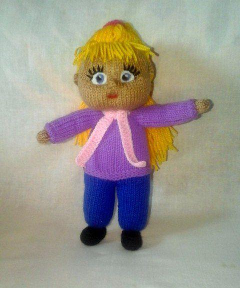 кукла длядетей вязанаяигрушка подарок