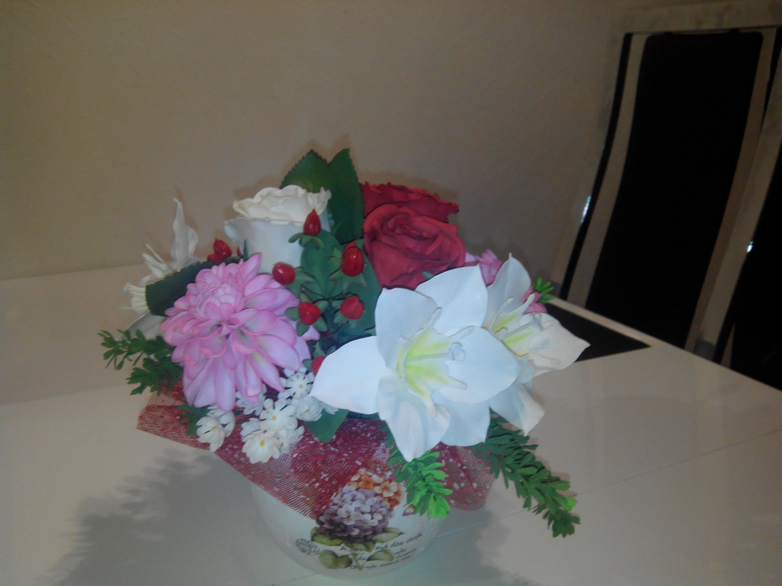 флористика из цветы фоамирана