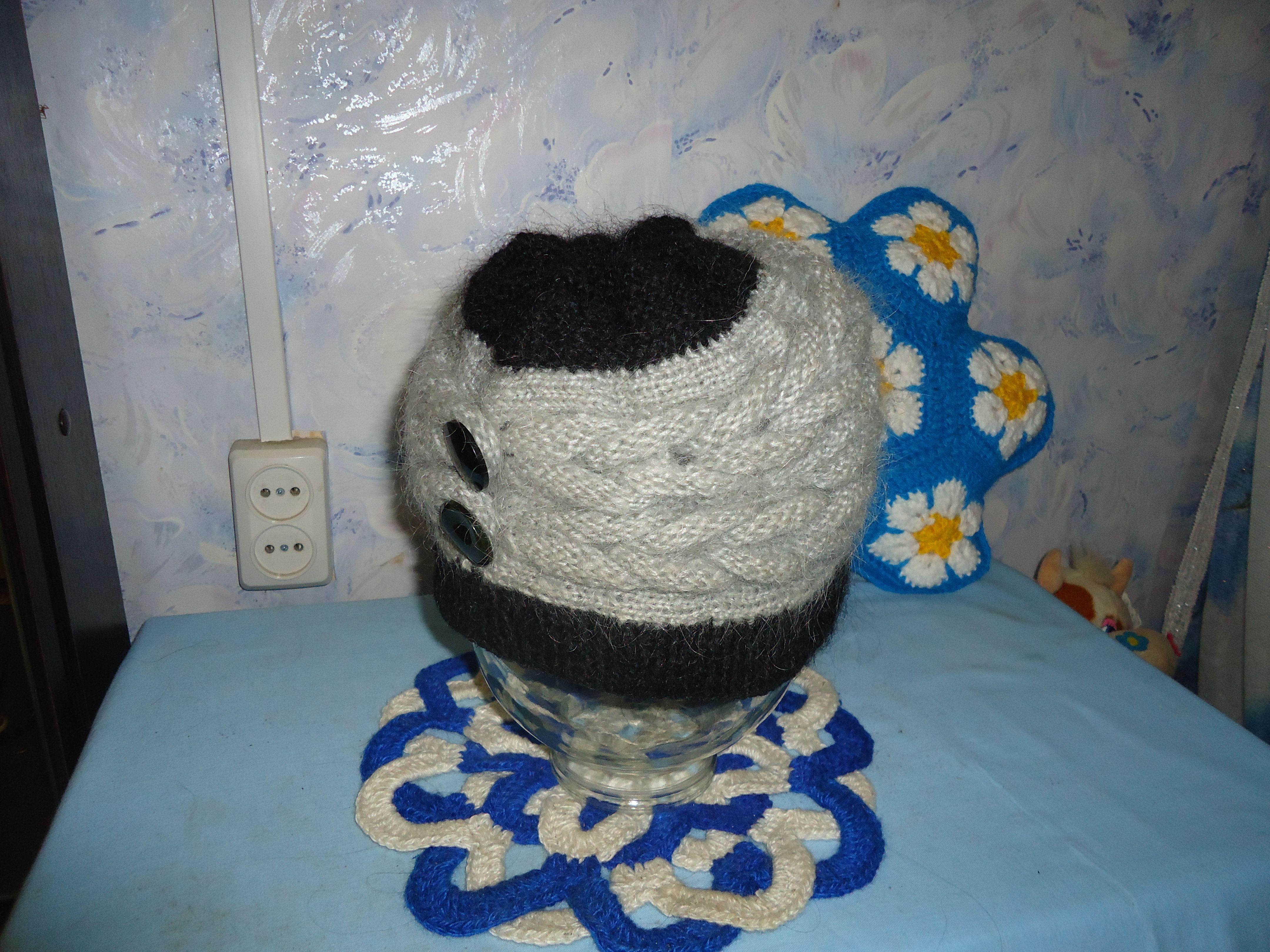 женская шапка аксессуары вязаная рукоделие