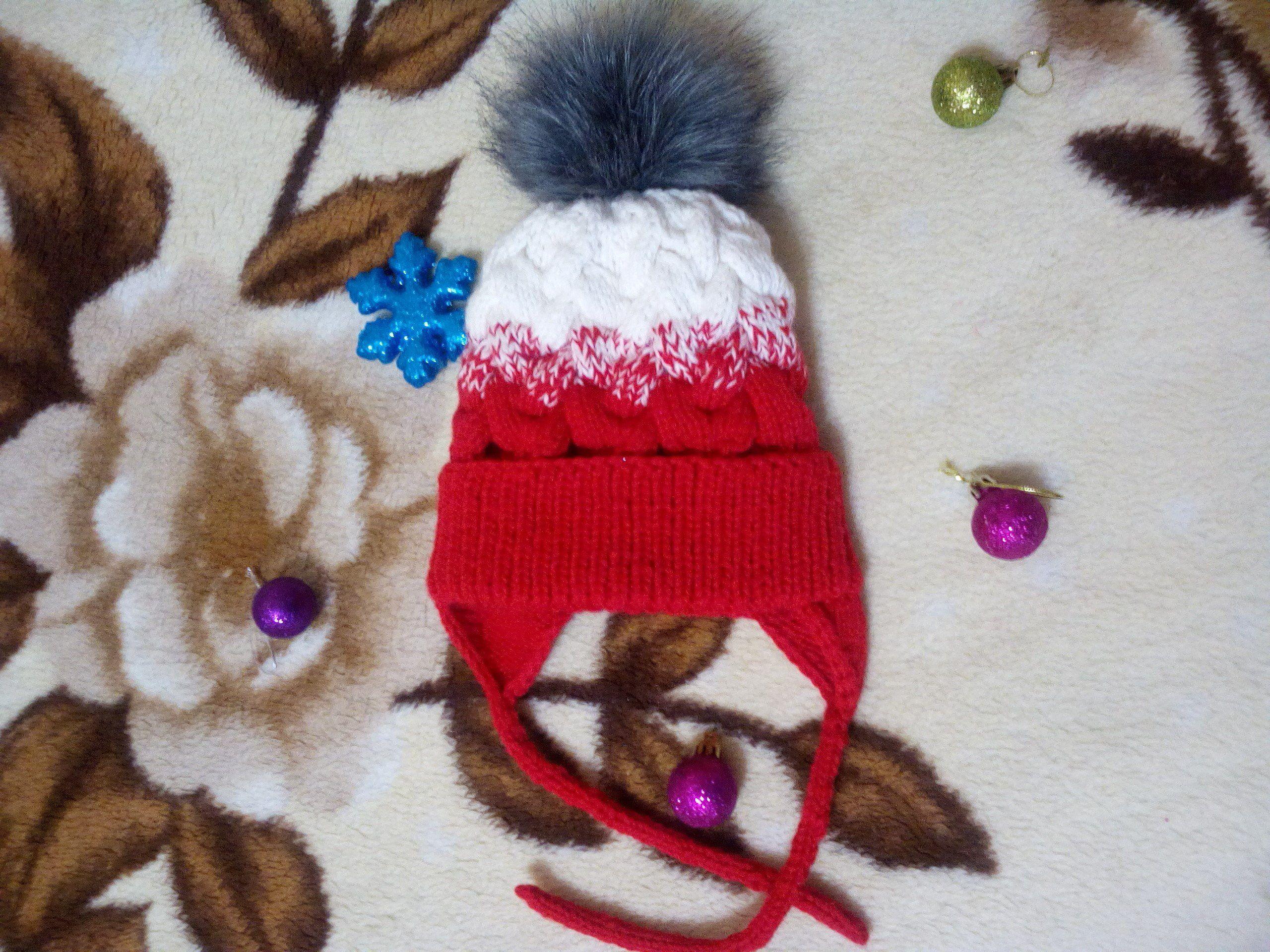 шапкатеплая детскаяшапка шапкавязанная