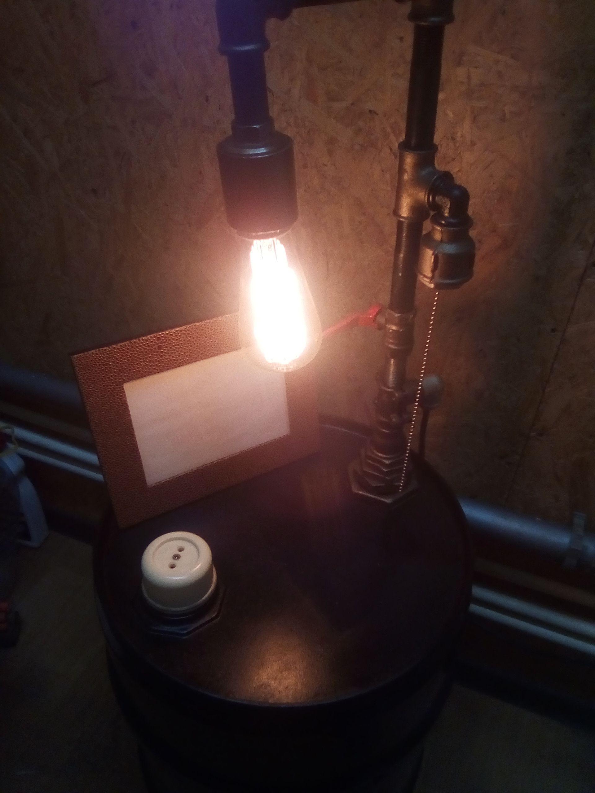 тумба лофт лампа светильник стимпанк эдиссона