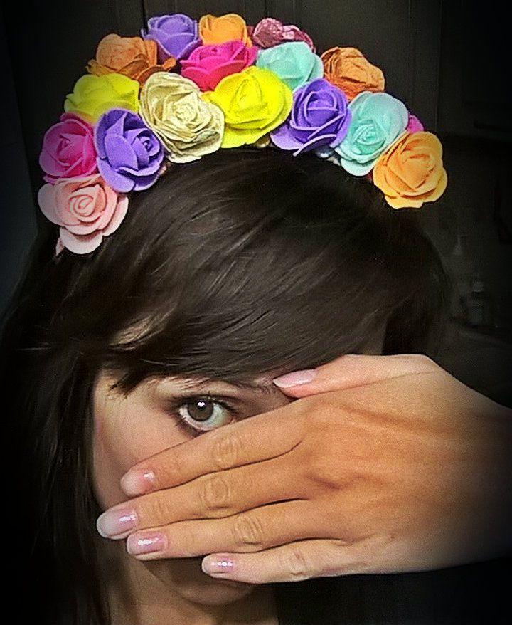 дляволос мультиколор украшение ободок цветы