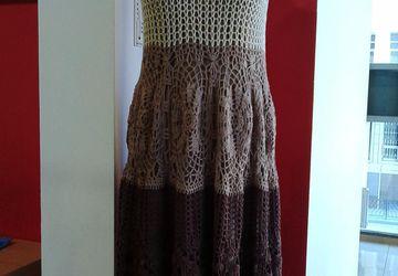 Платье, вязанное крючком