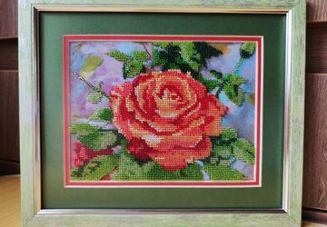 Роза в стиле ретро