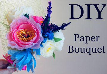 Видео МК: Как сделать Букет цветов из гофрированной бумаги