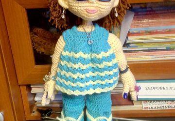 Интерьерная кукла, Авторская поделка-Дама с собачкой