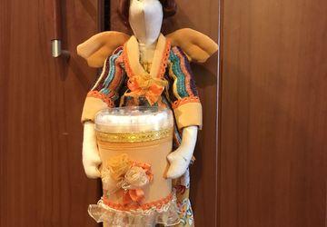 Тильда - хранительница ватных палочек и дисков