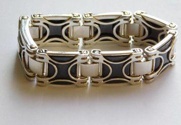 Мужские браслеты из золота и серебра