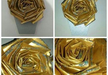 Магнит.Золотая роза.