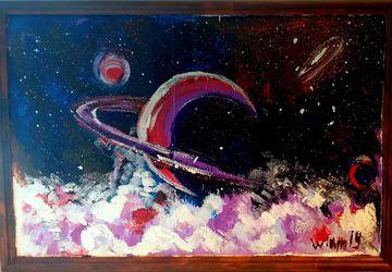 современная живопись,Космос- Сатурн