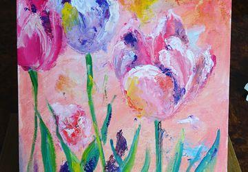 На одном дыхании тюльпаны