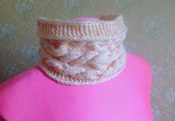 Снуд-шарф для юной красавицы