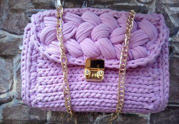 """Вязаная сумка """"Розовое золото"""""""